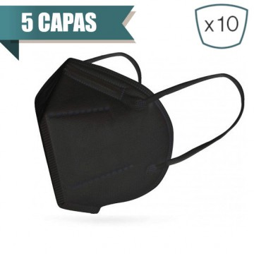 Mascarilla Negra Plegable FFP2 NR (10 Uds)